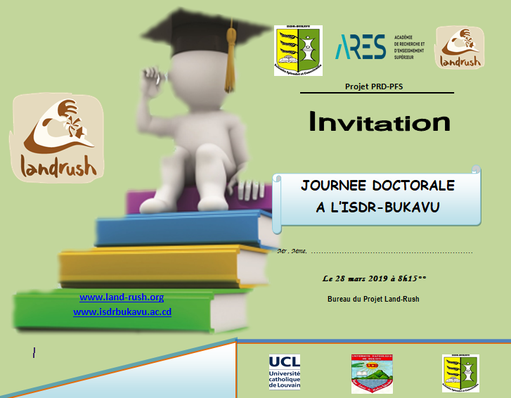 Une journée doctorale interdisciplinaire prévue à l'ISDR BUKAVU