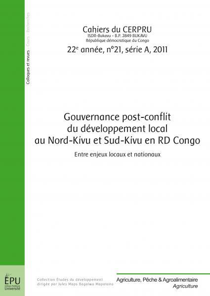 Gouvernance post-conflit du développement local au Nord-Kivu et Sud-Kivu en RDCongo: Entre enjeux locaux et nationaux Image